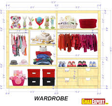 wardrobe inside designs kids wardrobe interior for a 12 feet wide space 12 by 10 gharexpert