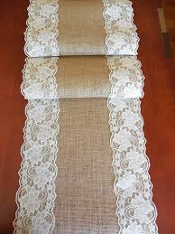 ivory lace table runner 52 best burlap table runners images on pinterest wedding table