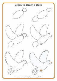 coloring simple dove drawing simple dove drawing