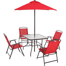Outdoor Table Umbrella Mainstays Albany Lane 6 Piece Folding Dining Set Multiple Colors