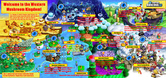 World Map Labeled New Super Mario Bros U Labeled World Map By Alboyay On Deviantart