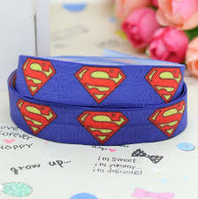 elastic ribbon wholesale 5 8 inch free shipping fold elastic foe superman printed ribbon