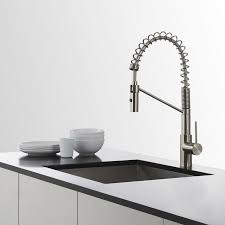 kpf 2630ss mateo single lever commercial style kitchen faucet in kraus kpf 2630ss mateo single lever commercial style kitchen faucet in stainless steel