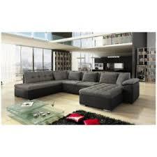 canapé d angle noir et gris meublesline canapé d angle panoramique alia gris et noir gris noir