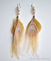 how to make feather earrings with how to make feather earrings infarrantly creative