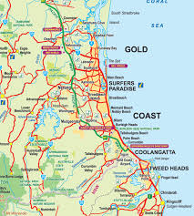 coast map gold coast map light rail tram theme parks suburbs