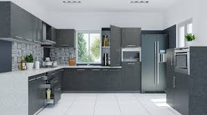 Kitchen Cabinets With Glass Kitchen Long Gray White Wooden Cabinet With Floating Storage