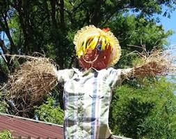 fun gardening activities for kids making a scarecrow for a