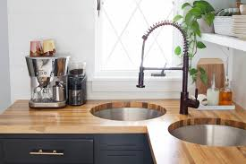 How To Install Kitchen Countertops Installing Butcher Block Counters With An Undermount Sink U2013 A