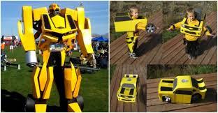 Bumblebee Transformer Halloween Costume Diy Transformer Costume Instructions