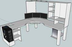 Gaming Desk Plans Gaming Desk Dimensions Table Plans Pinterest Gaming Desk
