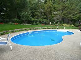 kidney shaped inground swimming pool designs for large space in