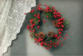 christmas decoration red fruit wall wreath decoration hanging
