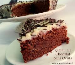 gateau cuisine gateau au chocolat sans oeufs recette delicieuse amour de cuisine