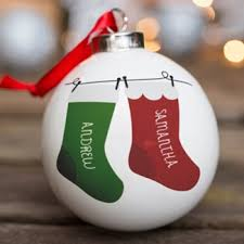Cheap Personalised Christmas Decorations Personalised Christmas Baubles Gettingpersonal Co Uk