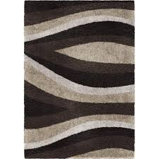 Area Rugs 6 X 10 Orian Rugs Flume Black Taupe 7 Ft 10 In X 10 Ft 10 In Area Rug