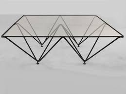 Coffee Table With Metal Base by Architectural Iron Base Glass Top Coffee Table By Paola Piva At