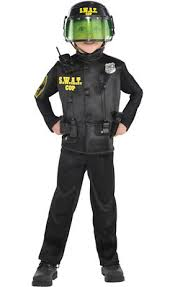 kids swat halloween costum boys swat cop costume party city