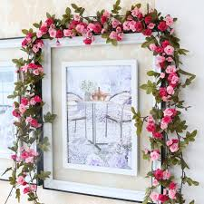 silk artificial fake flowers plants party wedding door stairs home