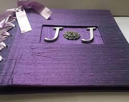 purple photo album wedding albums scrapbooks etsy