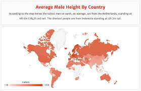 netherlands height map average height by country rehosted in imgur rebrn