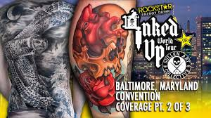 rockstar energy inked up tour tattoo convention coverage baltimore