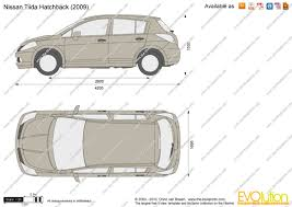 nissan tiida hatchback the blueprints com vector drawing nissan tiida hatchback