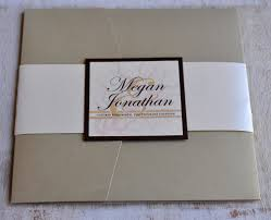 pocket fold pocket fold wedding invitation design fee light gold ivory and