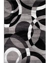 Area Rug 9 X 12 20 Osti Contemporary Modern Circles Abstract Grey