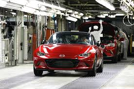 mazda car line production has begun on 2016 mazda mx 5 miata pricing announced