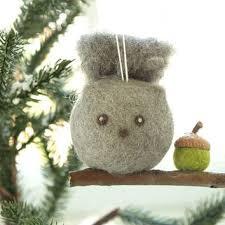 best woodland felt animal ornaments products on wanelo
