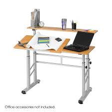 Diy Drafting Desk by Height Adjustable Split Level Drafting Table Safco Products