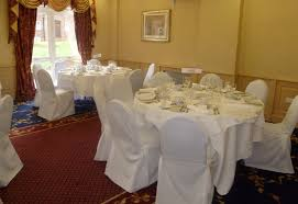 White Banquet Chair Covers Dining Room Top White Tablecloth With Black Chair Covers Simply
