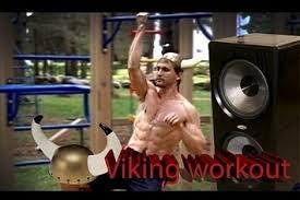 Techno Viking Meme - techno viking workout
