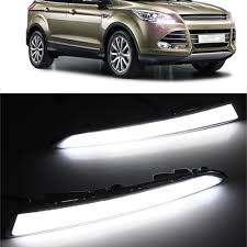 pair led daytime running light drl fog lamp for ford kuga 2014