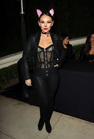 janel parrish arrives at the casamigos annual halloween party