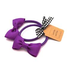 hair bands purple bow hair bands pair lottie nottie