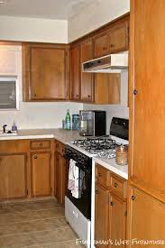 Furniture Kitchen Cabinets Remodelaholic Small White Kitchen Makeover With Built In Fridge