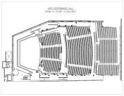 Floor Plan Of Auditorium by Special Events Auer Performance Hall Seating Chart Ipfw