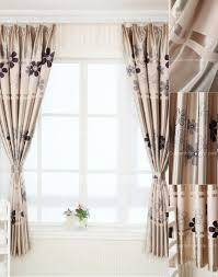blackout floral print polyester western style curtains