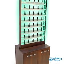 Nail Varnish Cabinet Paris Nail Polish Rack With Cabinet And Led Light Gulfstream Inc