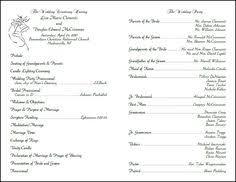 Wedding Reception Program Sample Image From Http Cf Ltkcdn Net Weddings Images Std 165098 325x251