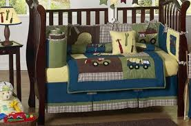 Construction Crib Bedding Set Sweet Jojo Designs 9 Construction Zone Blue