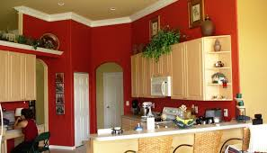 Red Kitchens With White Cabinets Kitchen With White Cabinets And Red Walls Roselawnlutheran