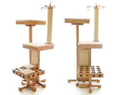 contemporary cat tree with natural style modern cat furniture