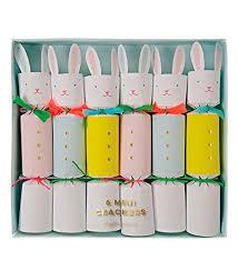 meri meri rabbit meri meri easter bunny crackers set of 6 mini crackers