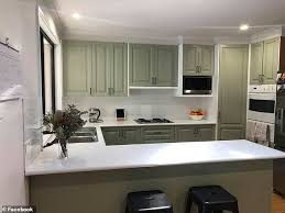how to paint kitchen cabinets bunnings australian diy lover transforms kitchen for less than 500
