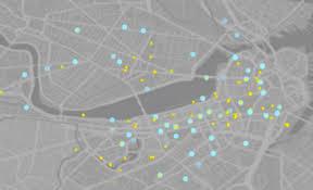 Boston Bike Map by A City U0027s Successful Bike Share Visualized Where Business And
