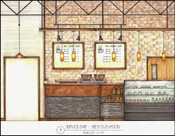 Hand Rendered Floor Plan The Urban Cafe By Alison Palmer At Coroflot Com