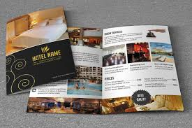 hotel brochure template bifold brochure template for hotel